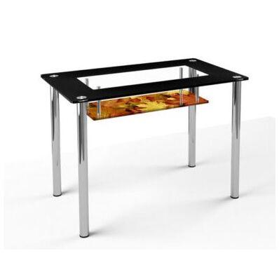 Стеклянный обеденный стол S-3