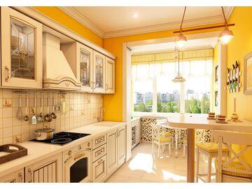 Кухня-студия или кухня с балконом