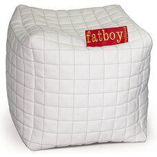 Кубик пуфик белый/черный Фэтбой