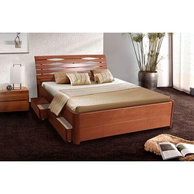 Кровать Мария-Люкс (бук) - 1,6 (с ящиками)