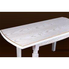 Стол обеденный Кайман (белый/патина)