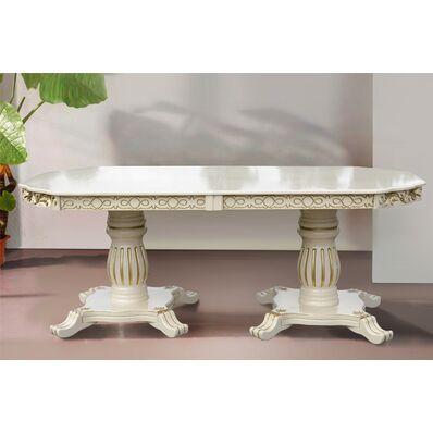 Стол обеденный Монарх (слон.кость)