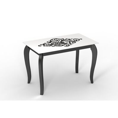 Стеклянный стол Император Артдэко