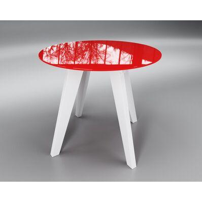 Стеклянный стол Леонардо круглый