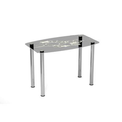 Стеклянный стол Цветочный мотив