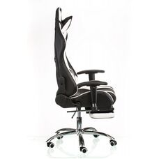 Кресло ExtremeRace black/white with footrest (E4732)