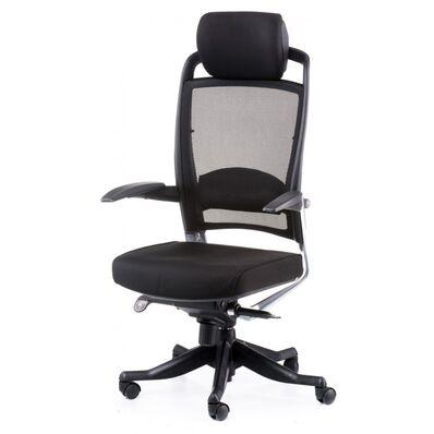 Кресло Fulkrum black fabric, black mеsh