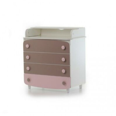 Пеленатор 900 ДСП Капучино-розовый