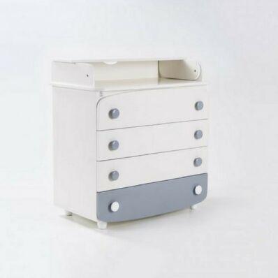 Пеленатор 900 ДСП Бело-серый