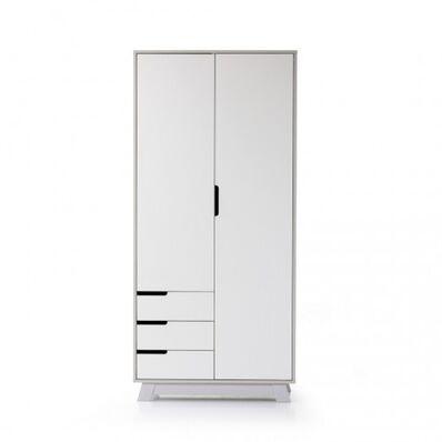 Шкаф Манхеттен бело-серый