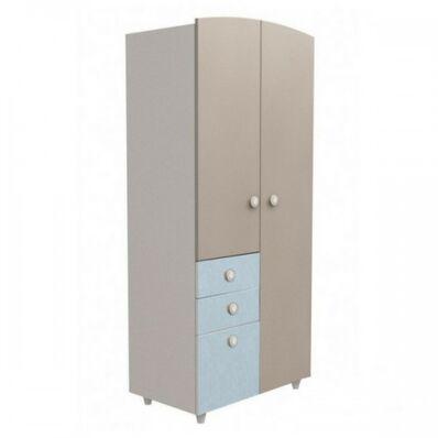 Шкаф №2 ДСП капучино-голубой