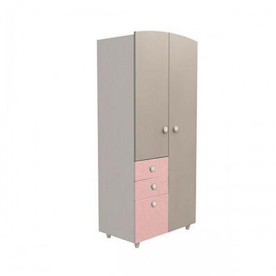 Шкаф №2 ДСП капучино-розовый