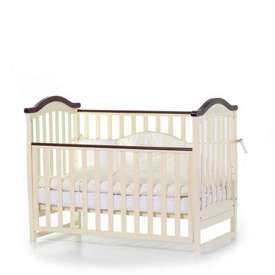 Кровать Соня ЛД3 слон.кость-орех