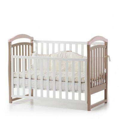 Кровать Соня ЛД6 капучино-розовый