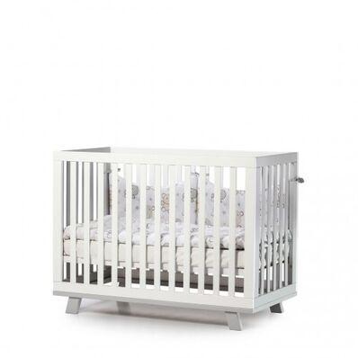 Кровать Манхеттен бело-серый 1.1.1.32.17