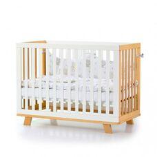 Кровать Манхеттен бело-буковый 1.1.1.32.15
