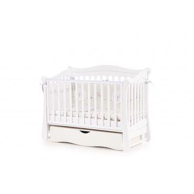 Кровать Соня ЛД18 маятник с ящиком белая