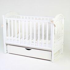 Кровать Соня ЛД3 маятник с ящиком белый