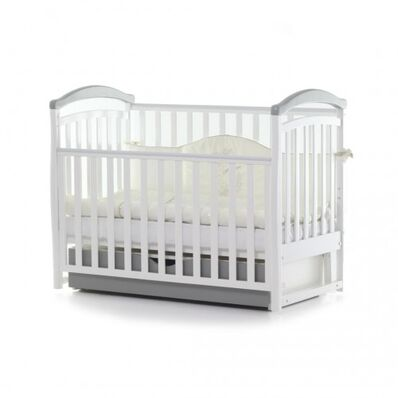 Кровать Соня ЛД6 маятник с ящиком бело-серая 06.1.61.1.06